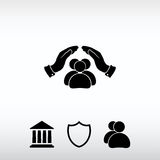 Safe peoples, , vector icon  illustration. Flat design style Stock Photo