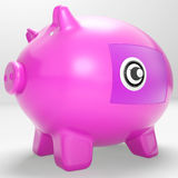 Safe Piggy Shows Secure Savings Locked Closed Stock Photography