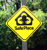 safe place sign Stock Photos