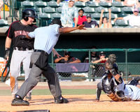Safe at the Plate! Royalty Free Stock Photography