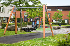Safe playground in modern suburb Royalty Free Stock Photo