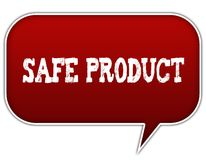 SAFE PRODUCT on red speech bubble balloon. Illustration Stock Photography
