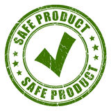 Safe product rubber stamp Royalty Free Stock Images