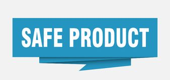 Safe product. Sign.  paper origami speech bubble.  tag.  banner stock illustration