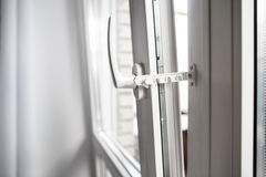Safe restrictor lock prevents shut the window Stock Images