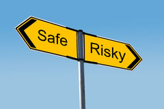 Safe or Risky? Royalty Free Stock Photos