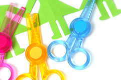 Safe scissors for children Royalty Free Stock Photos