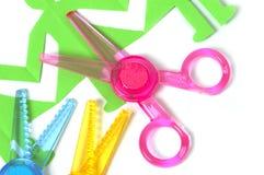 Safe scissors for children stock images