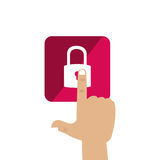 Safe secure padlock icon Royalty Free Stock Photography