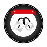 Safe secure padlock icon Stock Photos