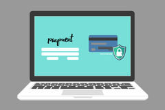 Safe and Secure payment,E-payment Stock Images