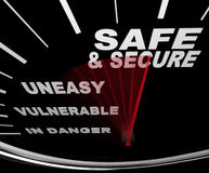 Safe and Secure - Speedometer Royalty Free Stock Photos