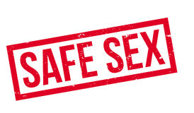 Safe Sex rubber stamp. Grunge design with dust scratches. Effects can be easily removed for a clean, crisp look. Color is easily changed Royalty Free Stock Image