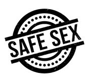 Safe Sex rubber stamp. Grunge design with dust scratches. Effects can be easily removed for a clean, crisp look. Color is easily changed Royalty Free Stock Photography