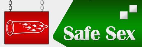 Safe Sex Signboard Horizontal Royalty Free Stock Photos