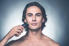 Safe shaving. Royalty Free Stock Photography