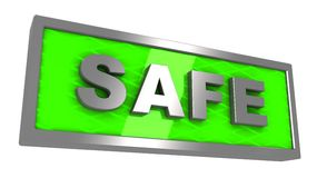 Safe sign Royalty Free Stock Image
