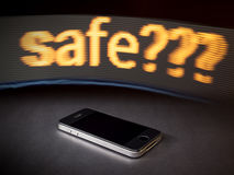 Safe smart phone Stock Image