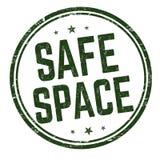 Safe space sign or stamp royalty free illustration