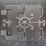 Safe in stainless steel. Bank Vault. 3d Royalty Free Stock Image
