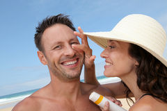 Safe summer vacation Stock Images