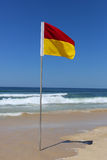 Safe swimming area flag, Surfers Paradise, Queensland, Australia Stock Photos