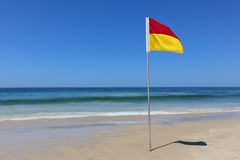 Safe swimming area flag Surfers Paradise Queensland Australia Royalty Free Stock Photography