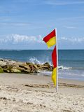 Safe swimming flags Royalty Free Stock Photography