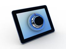 Safe tablet on white background Royalty Free Stock Photo