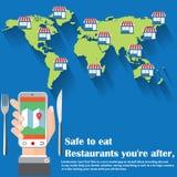 Safe to eat stock illustration