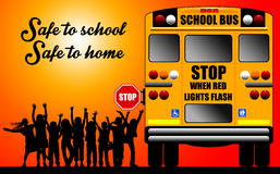 Safe to school Royalty Free Stock Image
