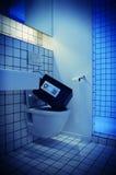 Safe toilet bowl Stock Photo