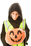 Safe Trick Or Treater Eyes Candy royalty free stock images
