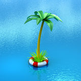 Safe tropical adventure Stock Image