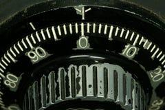 Safe tumbler dial macro Royalty Free Stock Image