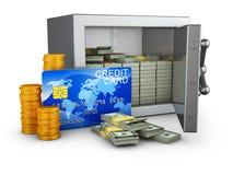 Safe und Kreditkarte Lizenzfreies Stockfoto