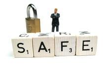 Safe und Ton lizenzfreie stockfotografie