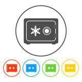 Safe vector icon. Vector eps 10 illustration stock illustration