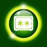 Safe vector icon. Vector eps 10 illustration royalty free illustration