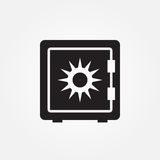 Safe vector icon illustration graphic design. Safe vector icon illustration graphic design Royalty Free Stock Photo
