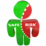 Safe Vs Risk Security Danger Person Survey Stock Images