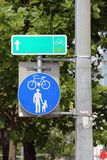 Walking and Cycling Sign Royalty Free Stock Images