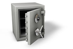 Safe on White. Bank safe isolated over a white background stock illustration