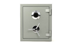 Safe on white. Bank safe isolated over a white background royalty free illustration