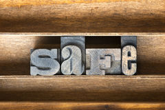 Safe wooden tray Royalty Free Stock Photo