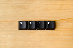 Safe word. With keyboard buttons Royalty Free Stock Photo