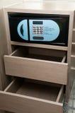 Safebox dans l'hôtel Photographie stock