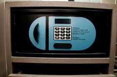 Safebox en hotel Imágenes de archivo libres de regalías