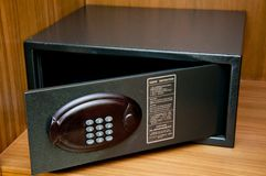 Safebox in hotel Royalty Free Stock Photo