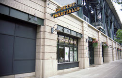 Safeco Field Ticket Booth - Seattle Mariners Royalty Free Stock Images